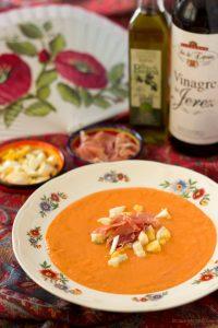 Salmorejo koude spaanse soep
